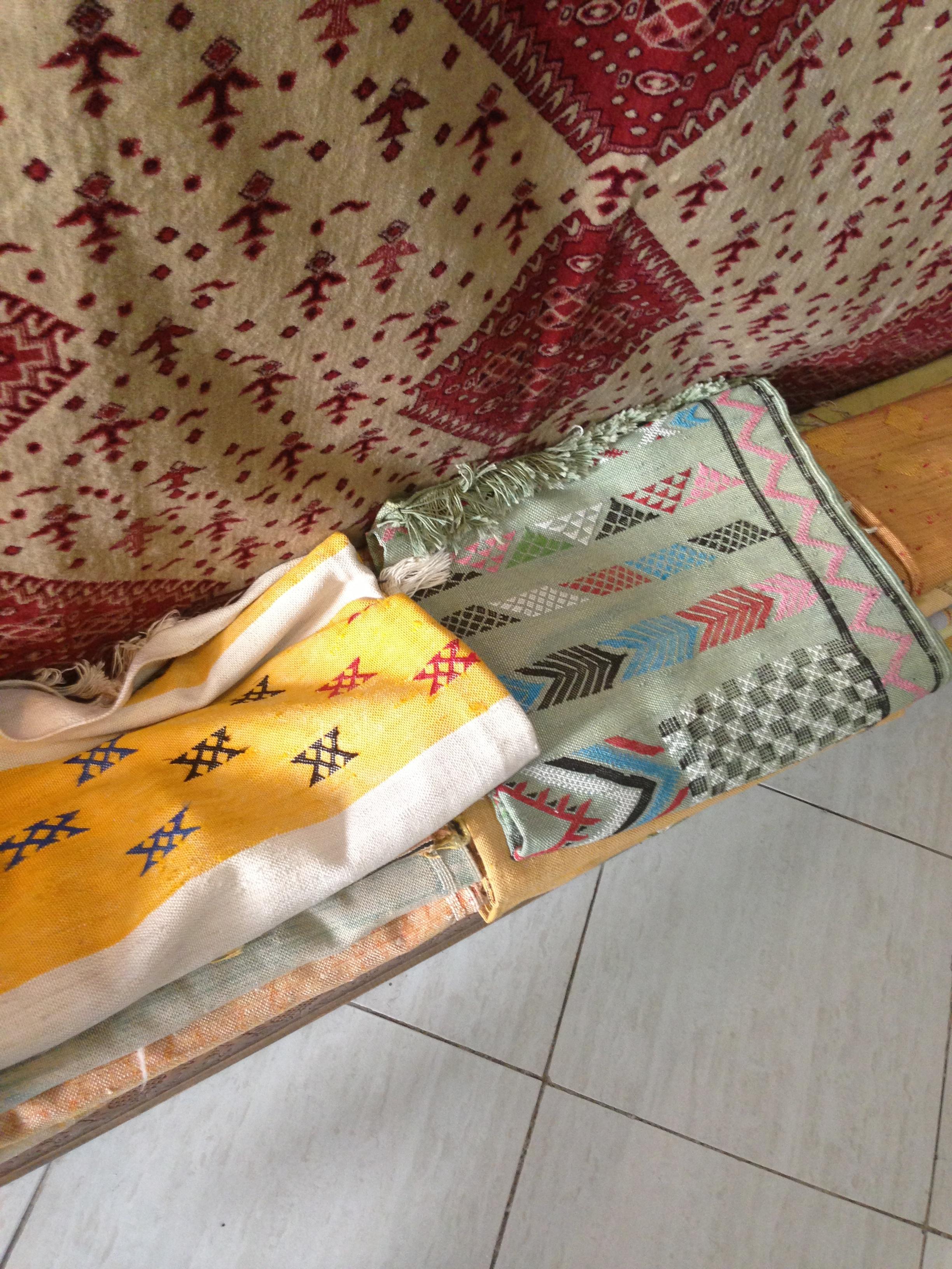 Inordinate amounts of textiles in the Medina
