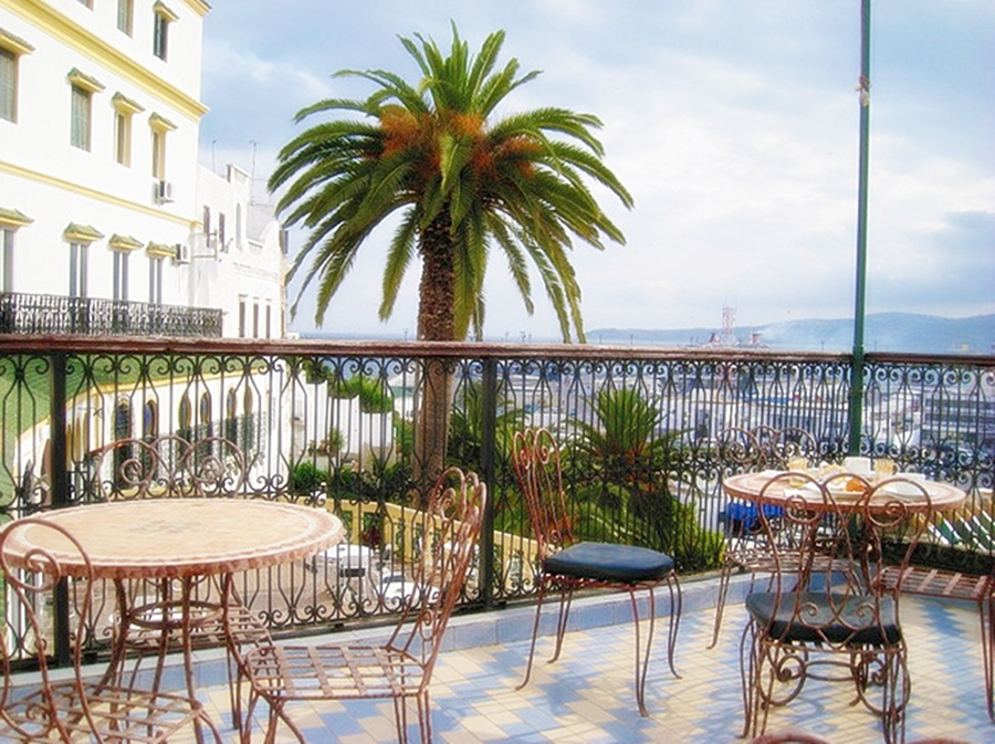 The terrace of Hotel Continental