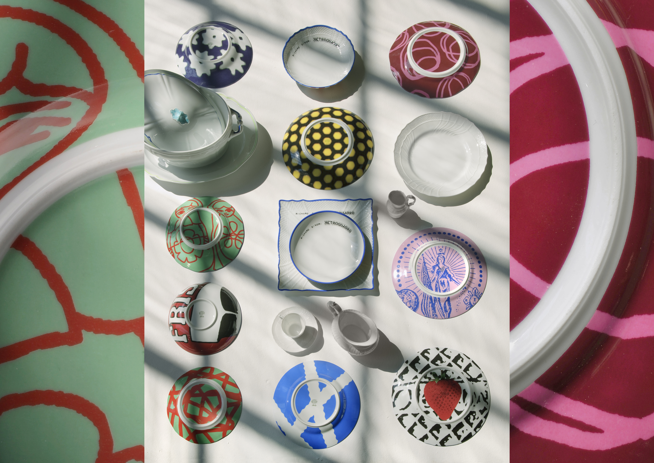 Richard Ginori's plates in collaboration with Paola Navone.