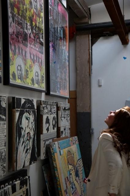 At FAILE's studio in Williamsburg