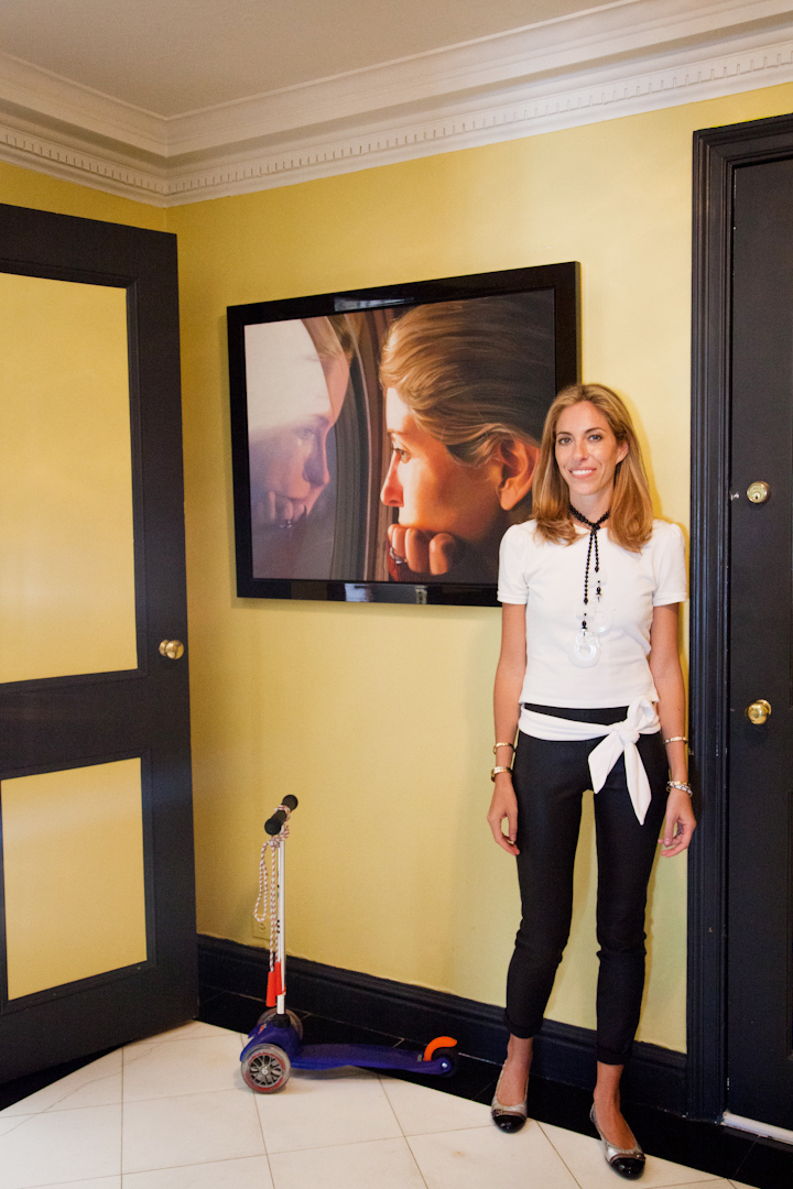 Gorgeous Nicole with a portrait that realist Francesco Cappello painted for her based on a photograph that Matthew shot.