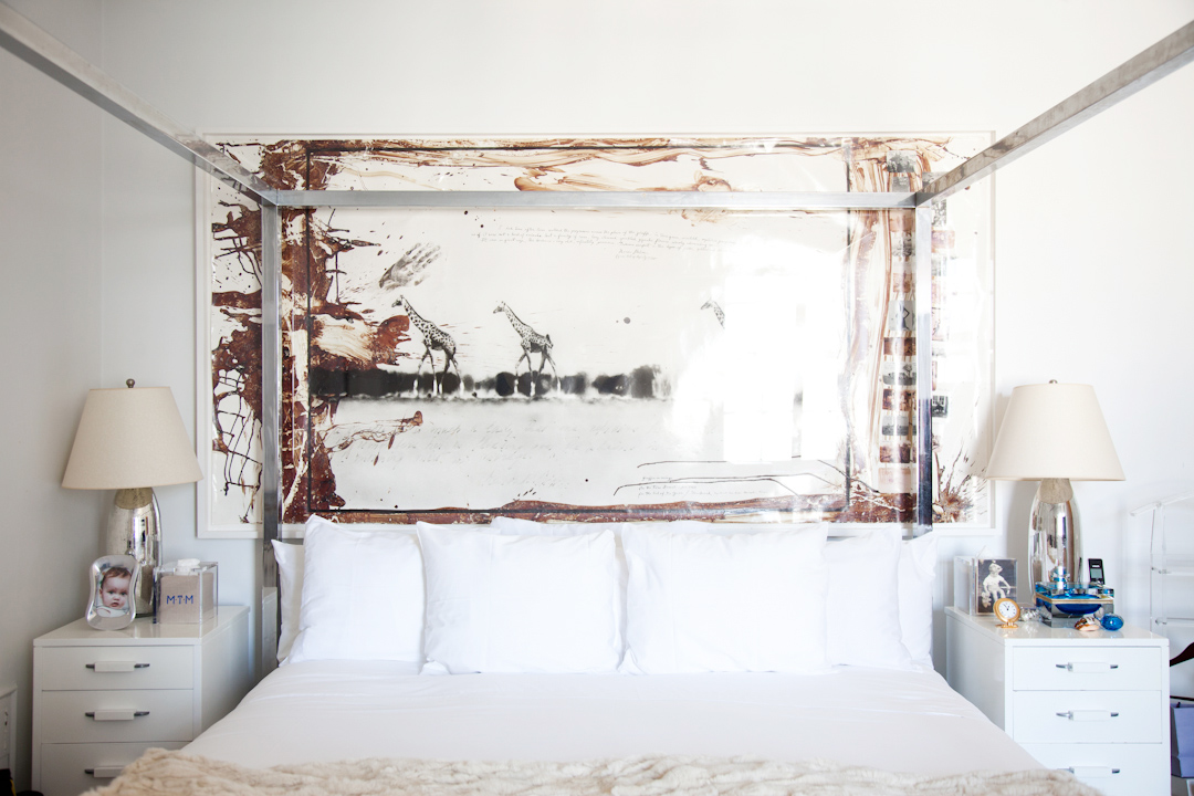 Peter Beard's photograph in the master bedroom.  This is one of Nicole's personal favorites.