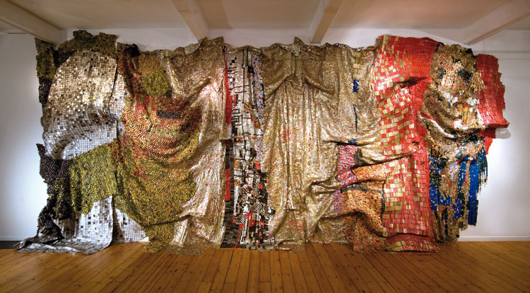 El Anatasoui installation at the Milwaukee Art Museum