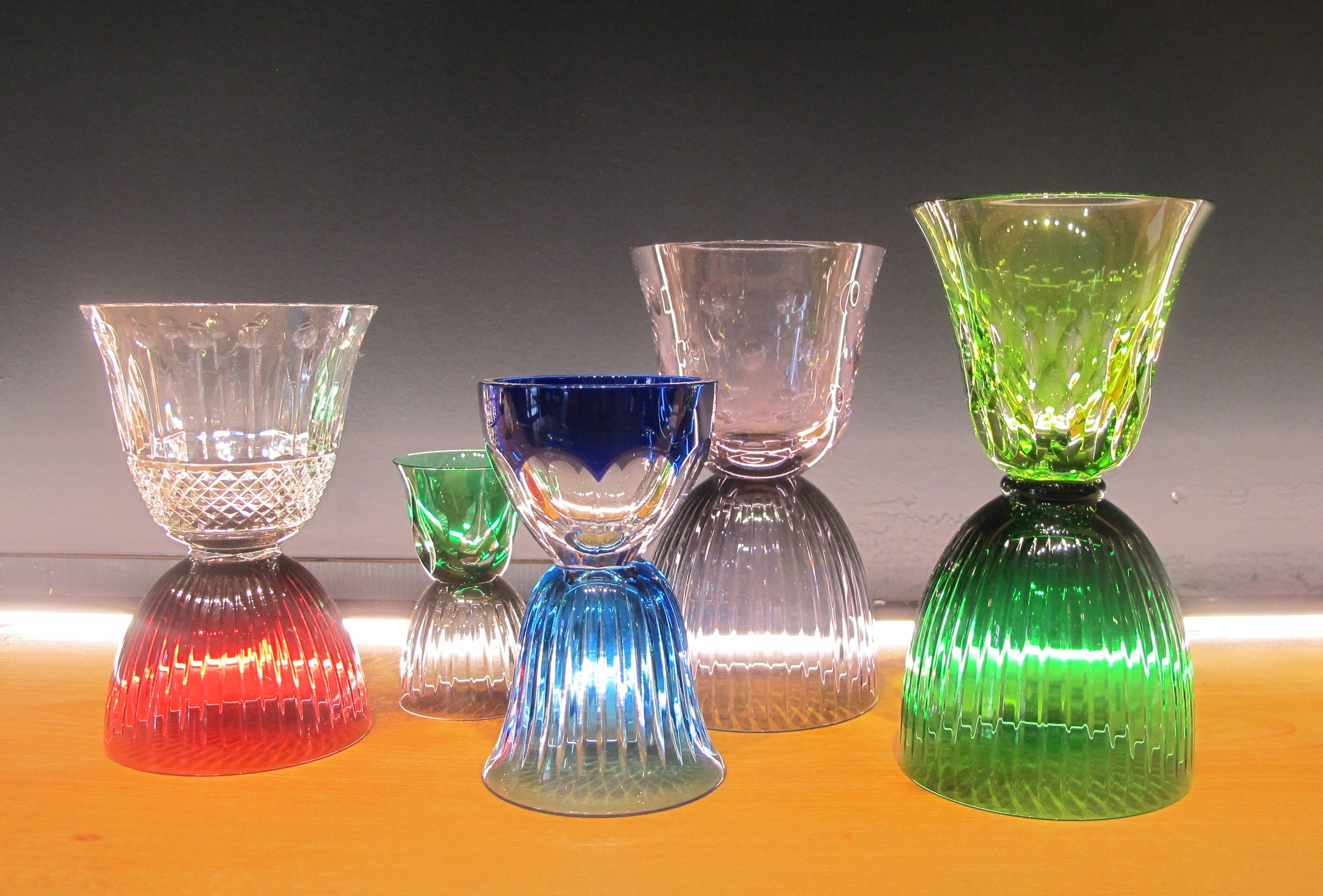 These glasses by Saint-Louis made me want to have an entire collection displayed in my house.
