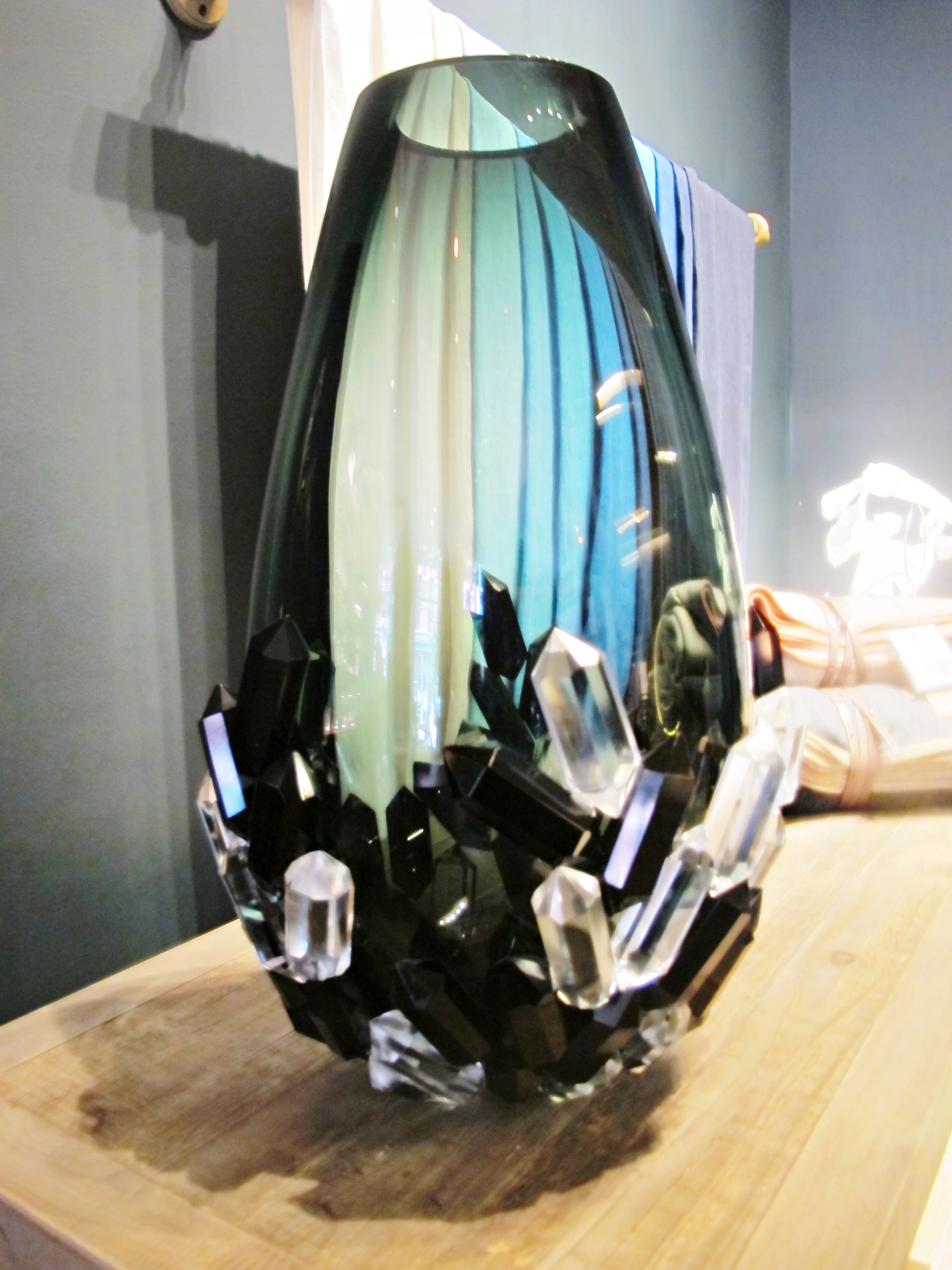 This is a really large vase by Hanne Enemarkthat looks like a piece of jewelry. Perfect statement piece.