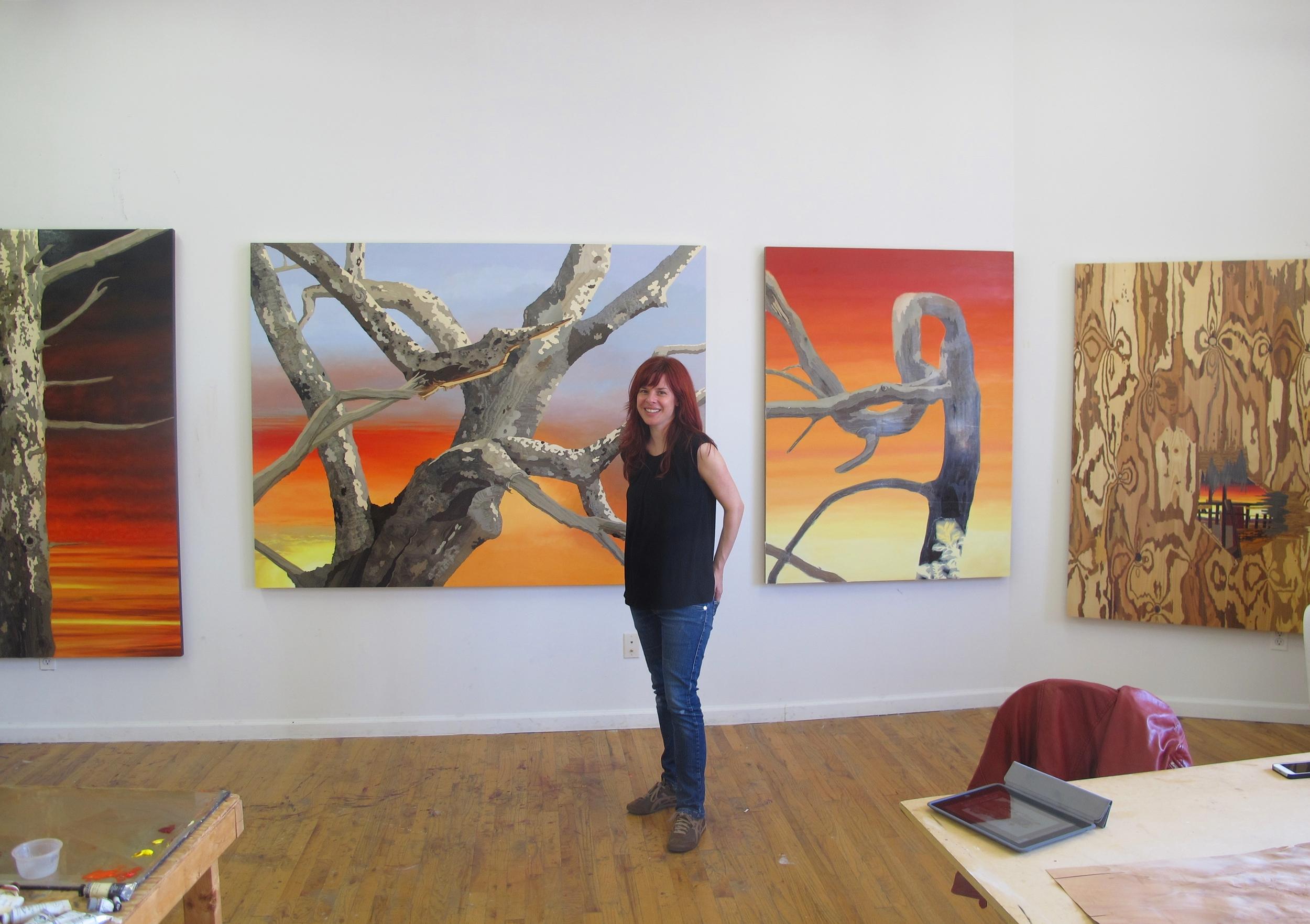 Alison Elizabeth Taylor in her Brooklyn studio