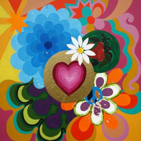 Beatriz Milhazes, Uma Palavra, 1999, acylic on canvas, Available at John Berggruen Gallery