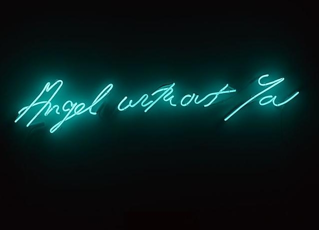 Tracey Emin, Angel Without You, 2013, neon sculpture