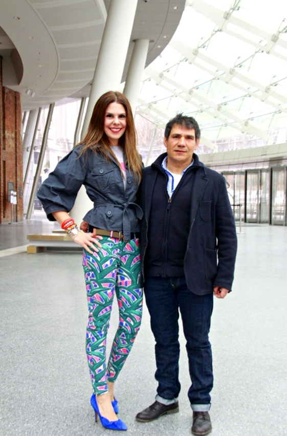 Santi and I at the Brooklyn Museum's entrance pavillion which was designed by John Stewart Polsheck and opened to the public in 2004. Picture and video by  Peter Koloff of Black Dot Creative . Other images courtesy of Paul Kasmin Gallery and the artist