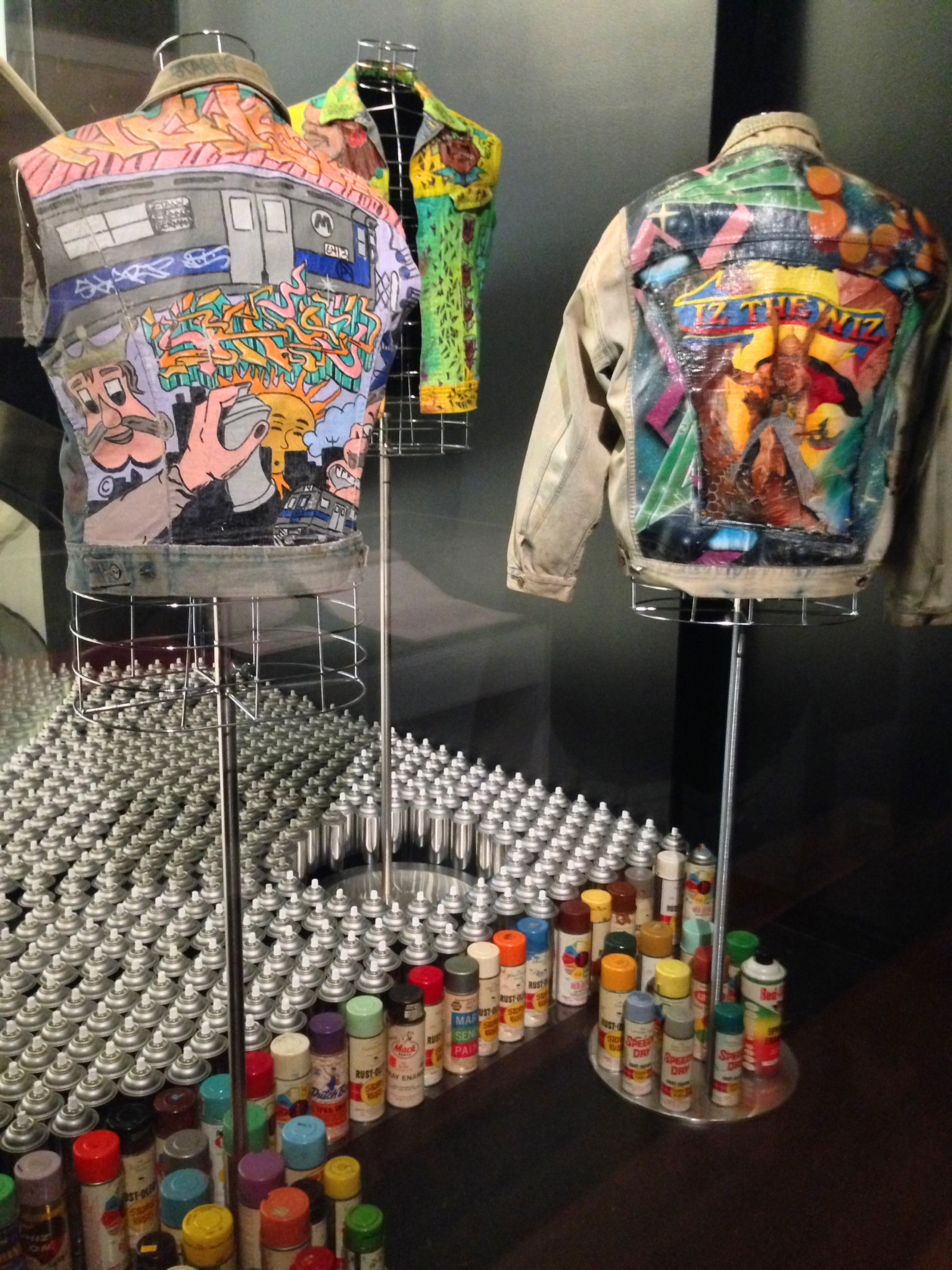 I loved the creativity of this installations with jackets that were created for Wong; the one on the left was designed by SHARP, the one in the middle by Delta 2 and the one in the right by Caine One.