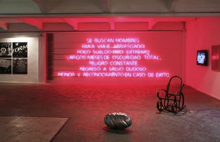 Joan Prats is one of my favorite galleries in Barcelona. From left works by: Erick Beltran, Fernando Prats, Gabrieland Joan Brossa