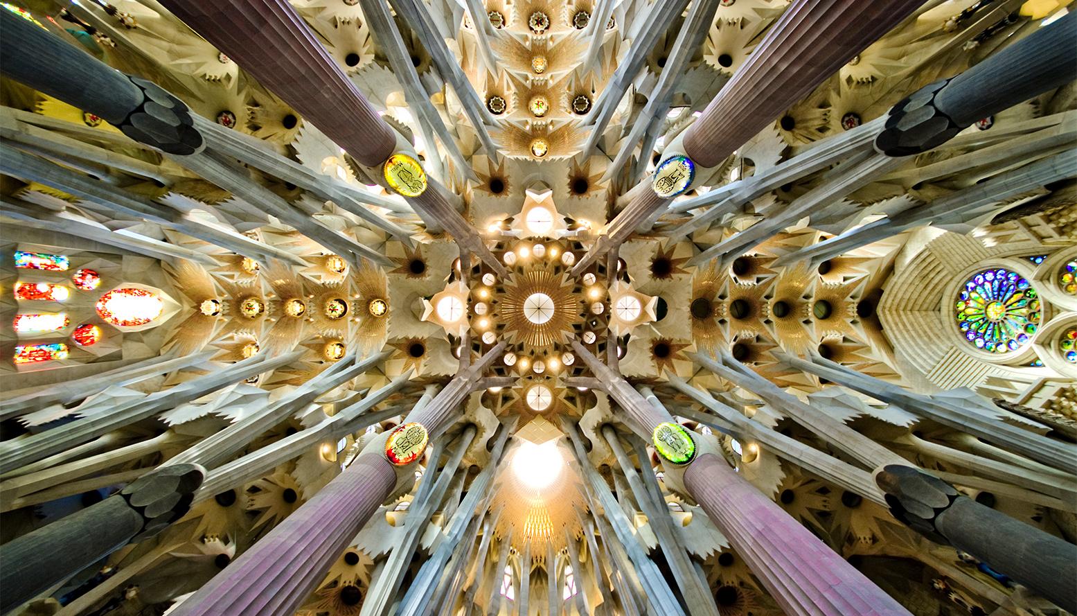 The central nave at Sagrada Familia