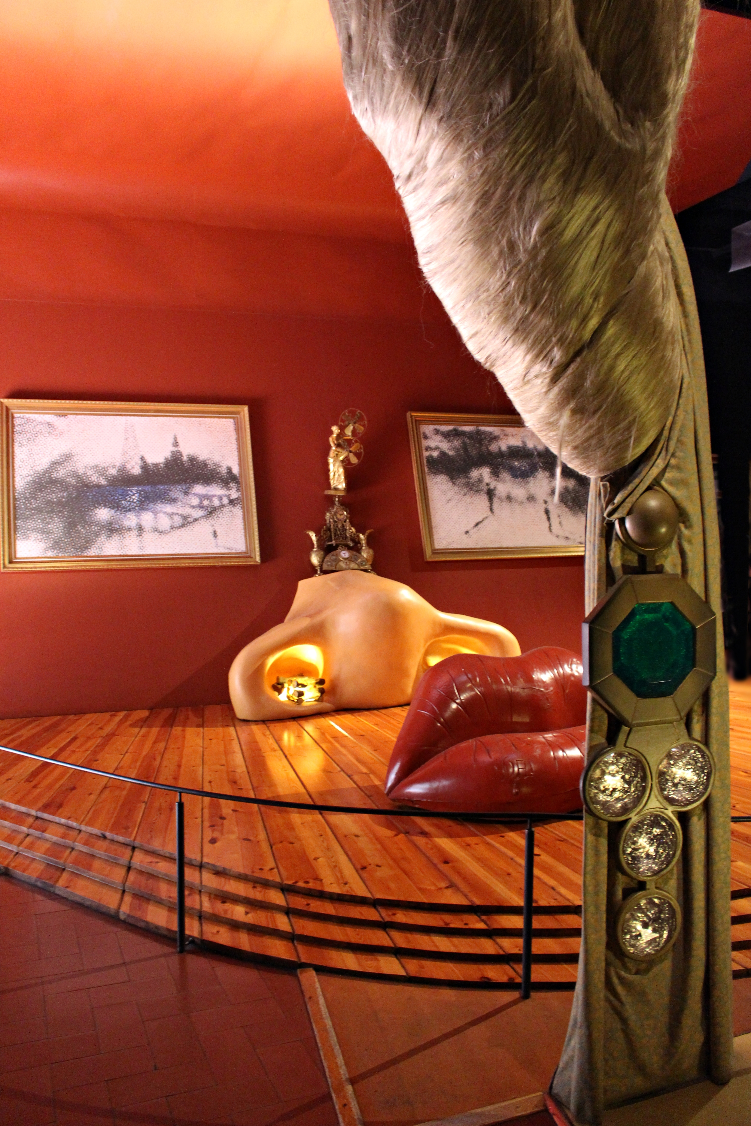 The Mae West Room from a side angle