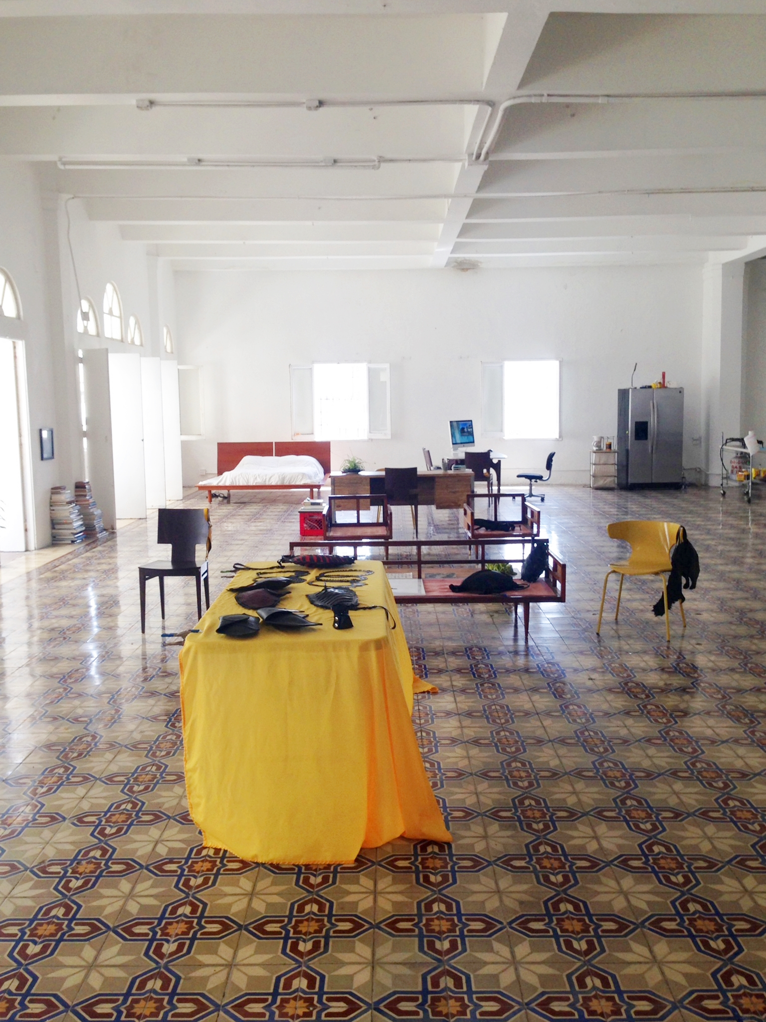 The large and sunny studio of Jose Manuel Gomez