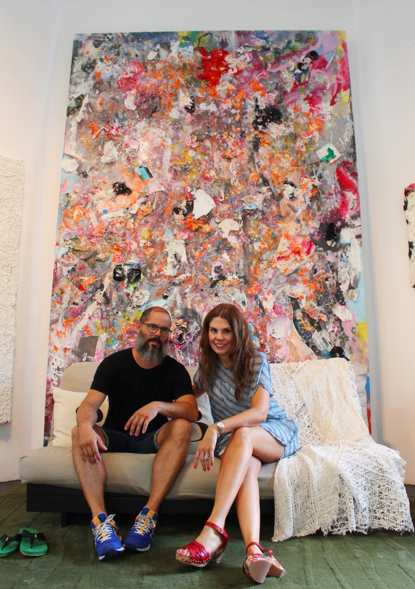 Melvin Martinez and I in his Santurce studio