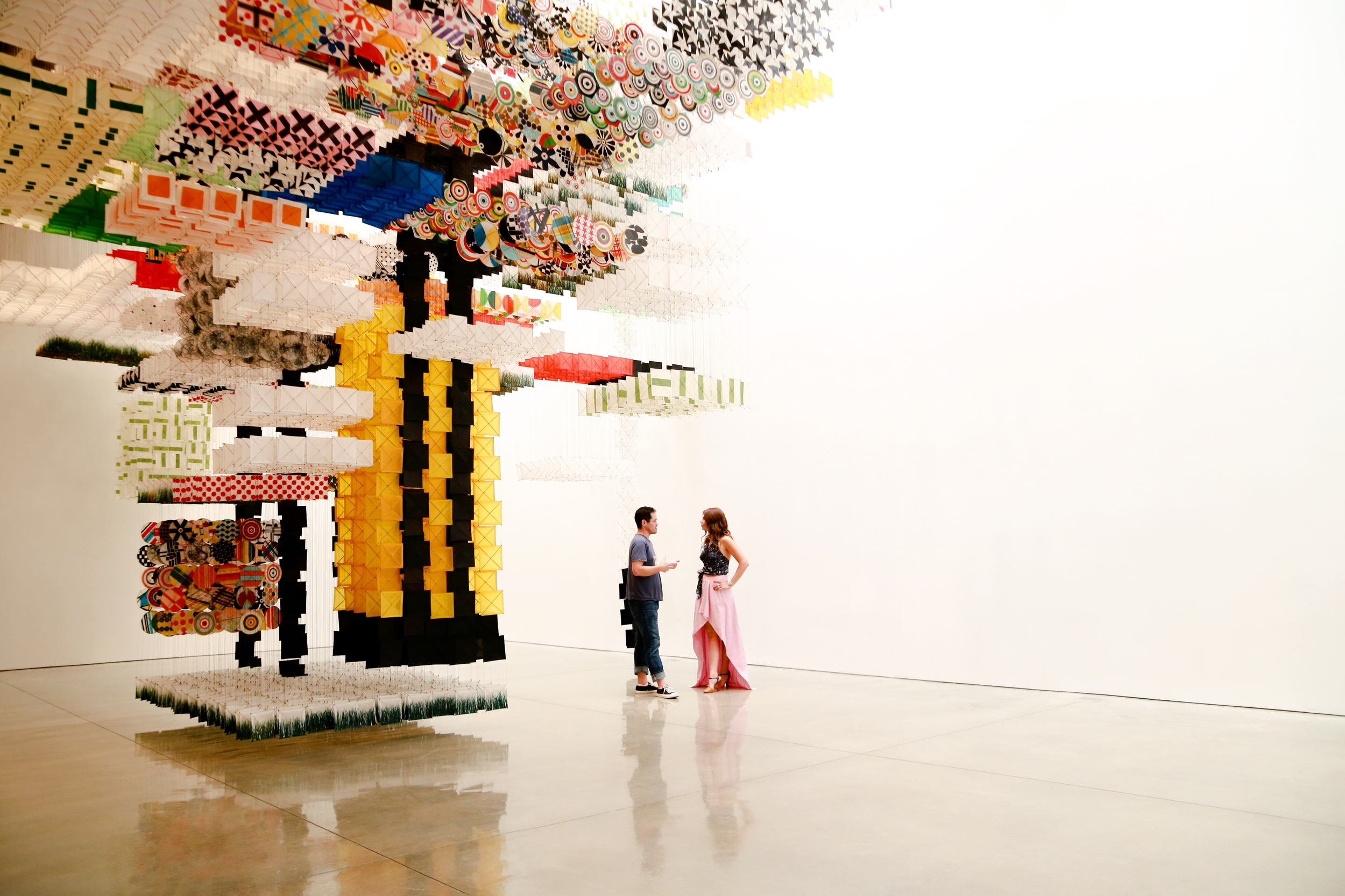 Jacob Hashimoto and I under his Skyfarm Fortress at Mary Boone Gallery on 24th Street. Pictures by Black Dot Creative.