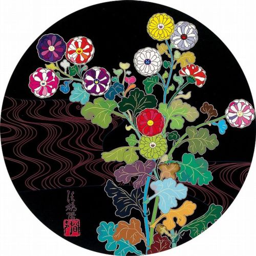 This colorful Takashi Murakami lithograph is coming up for auction in Live Auctions. Check it out  here .