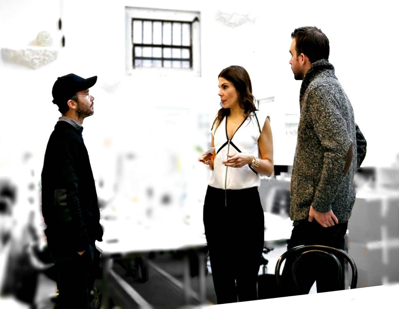 Daniel Arsham, Alex Mustonen and me at the Snarkitecture studio in Brooklyn.  All pictures by Black Dot Creative.