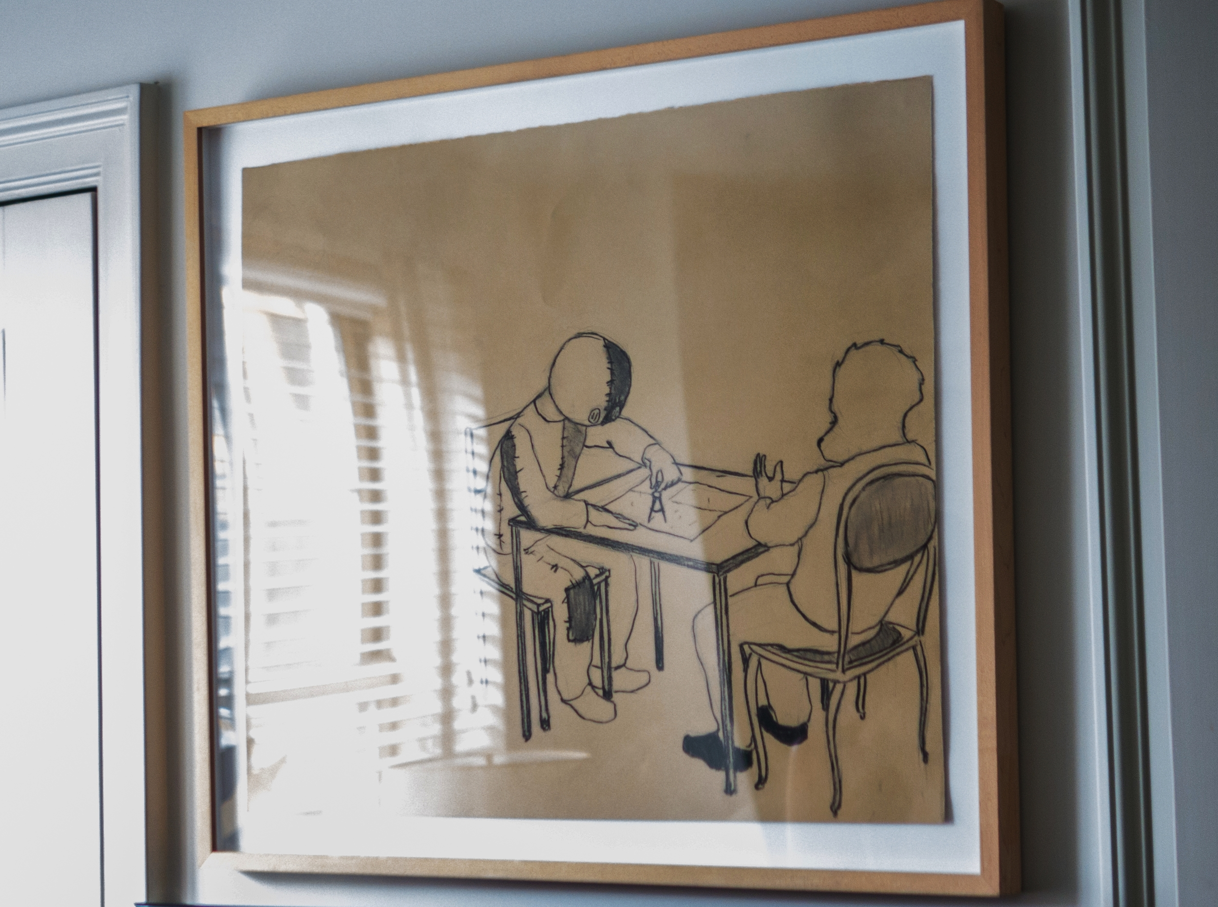 Kojo Griffin's drawing is ambiguous, dark and intriguing.