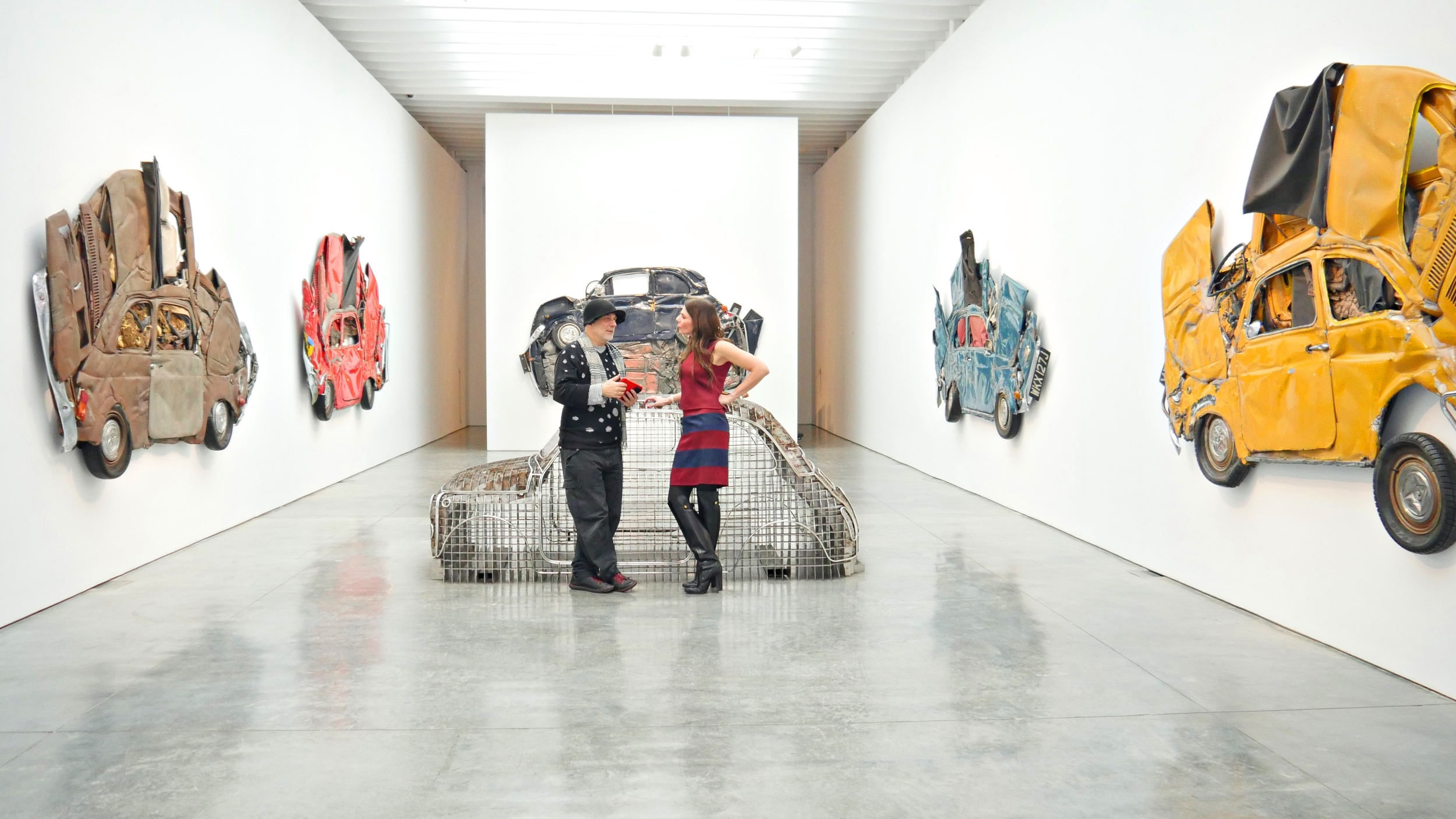 "Ron Arad and I at Paul Kasmin Gallery in his exhibition ""In Reverse"".  All photos by Peter Koloff."