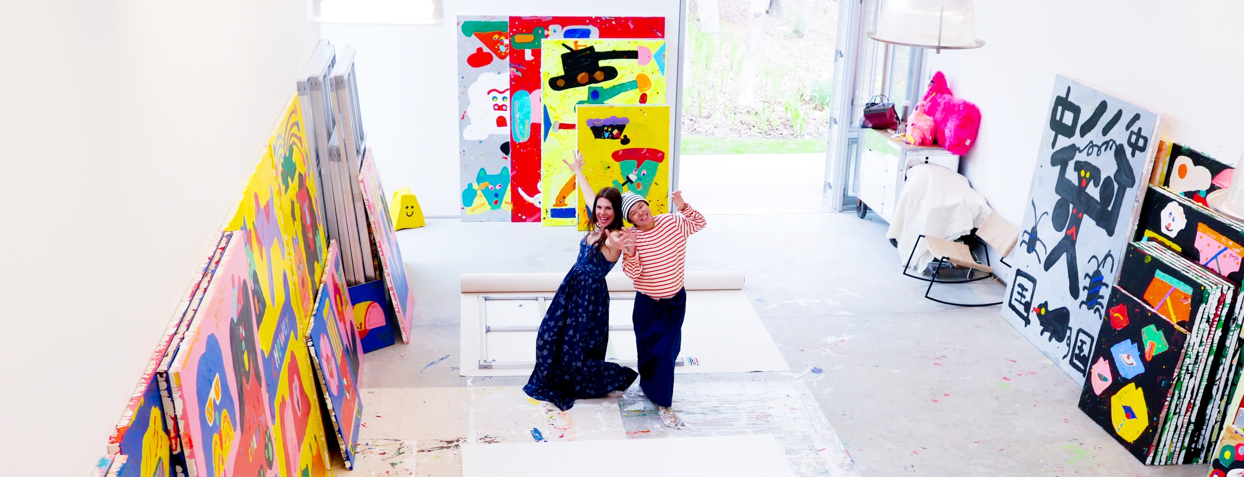 Misaki (who's expecting her first baby in August) and I in her East Hampton studio. All pictures by Peter Koloff