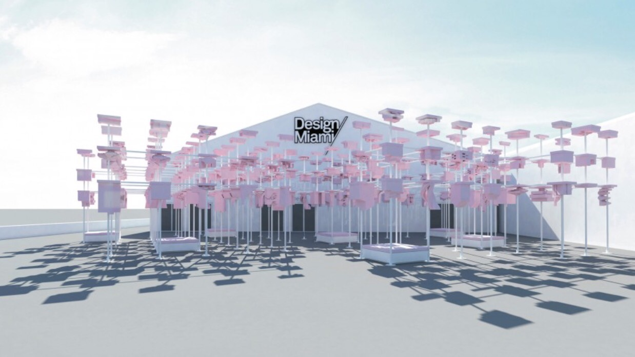 Renderings of the entrance of Design Miami created by the students of the Harvard Graduate School of Design