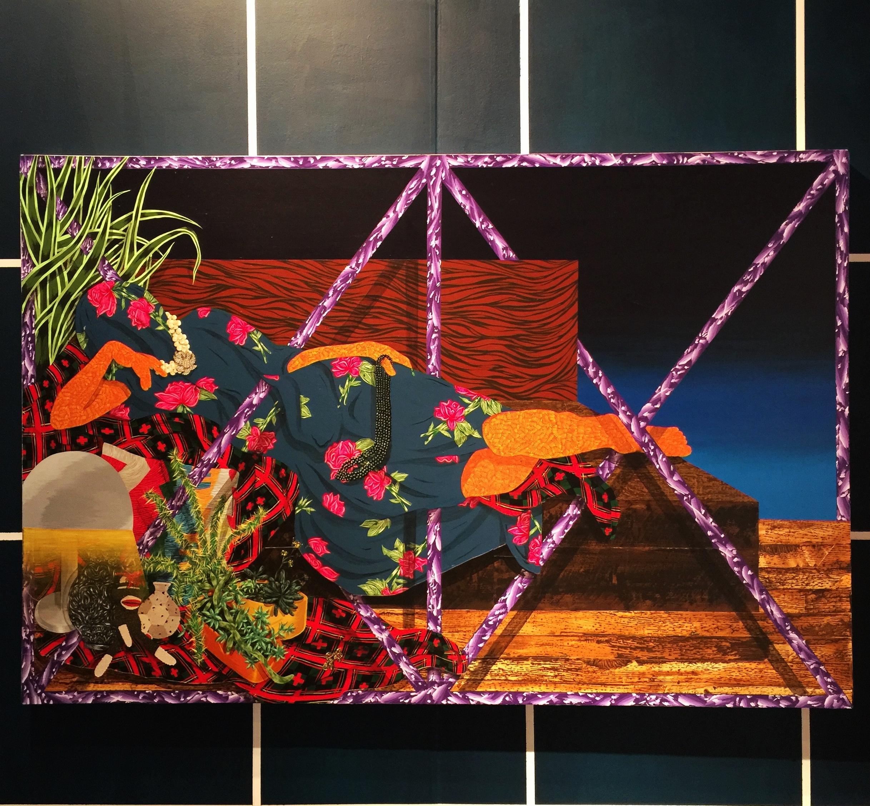 Amir H Fallah's painting at Volta