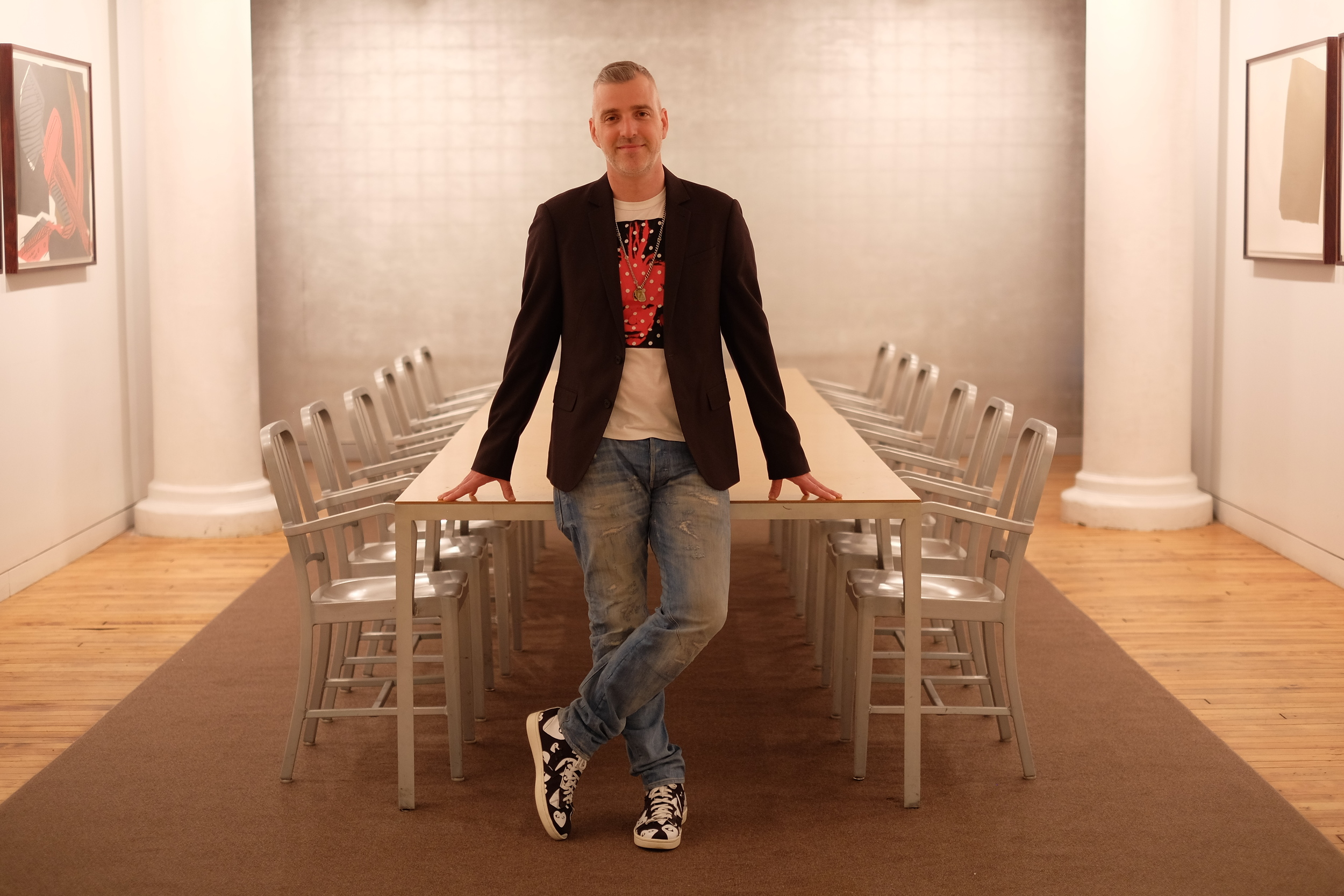 Michael in the conference room at The Andy Warhol Foundation.  Photo by James J. Williams III.