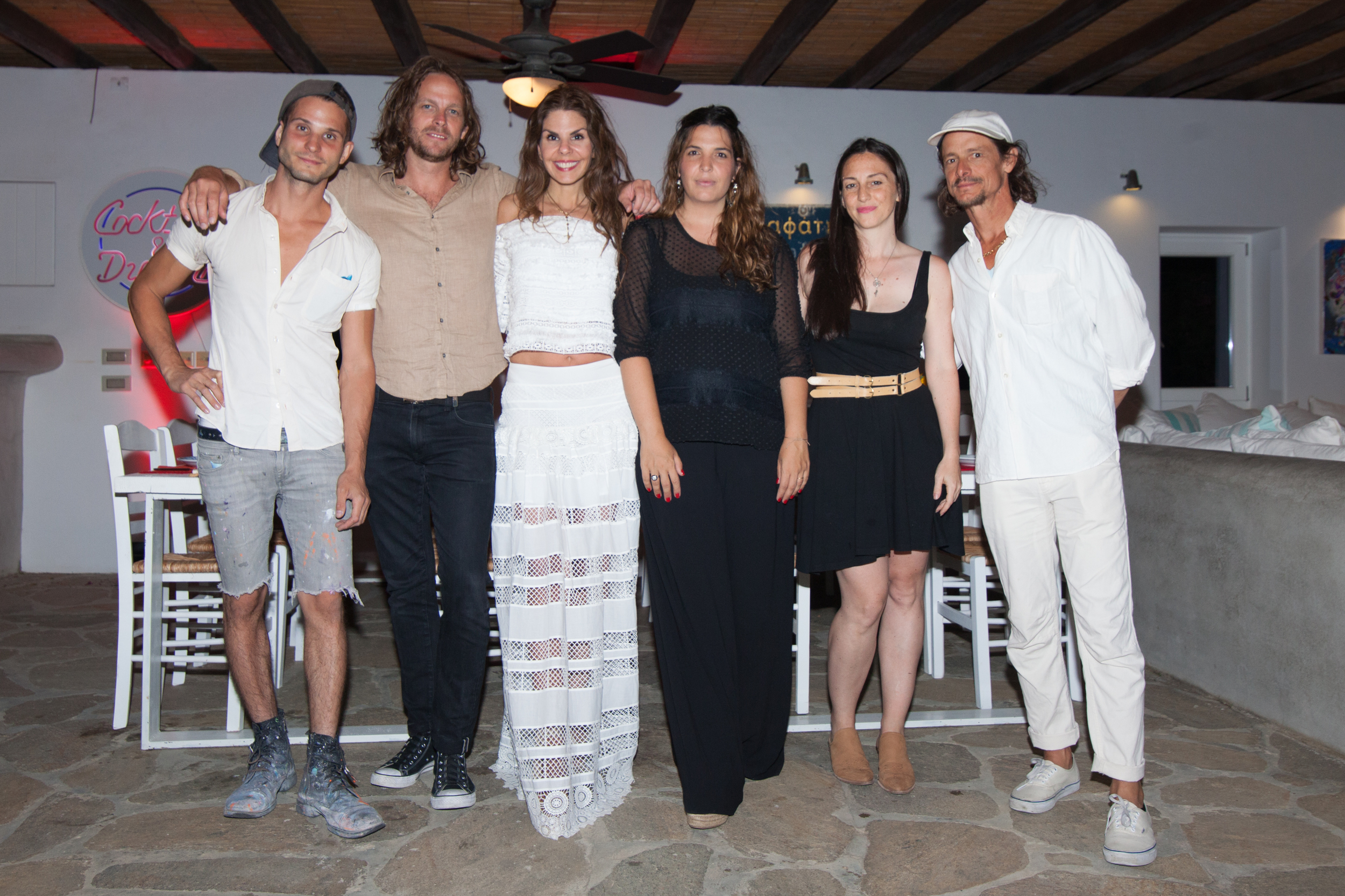 Part of the Greek Gotham Team:Austin Lee, Taylor McKimens, me, Marina Vranopoulou, Mira Dancy and Erik Parker at the dinner the night before the opening