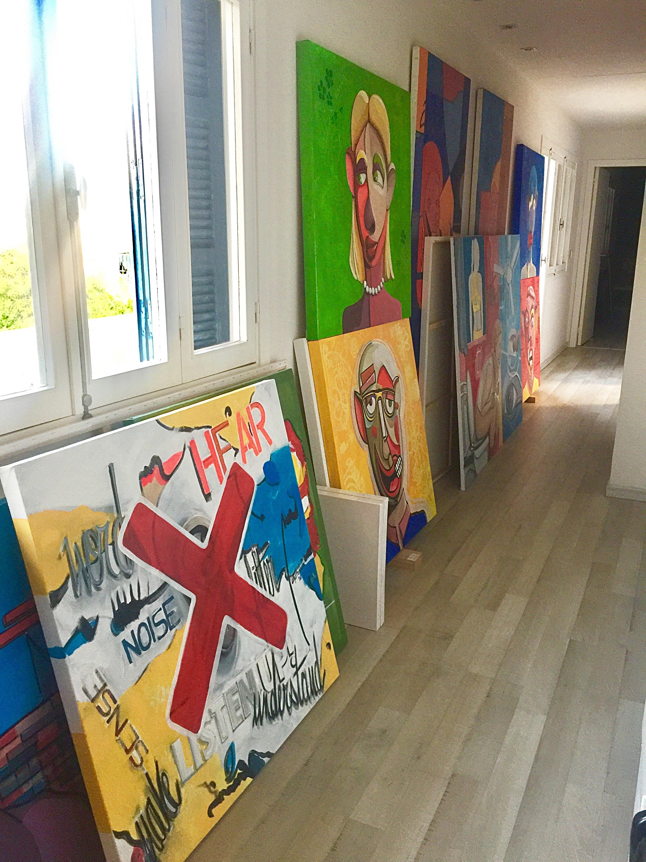 Ghazi Baker's studio in Hamra Street
