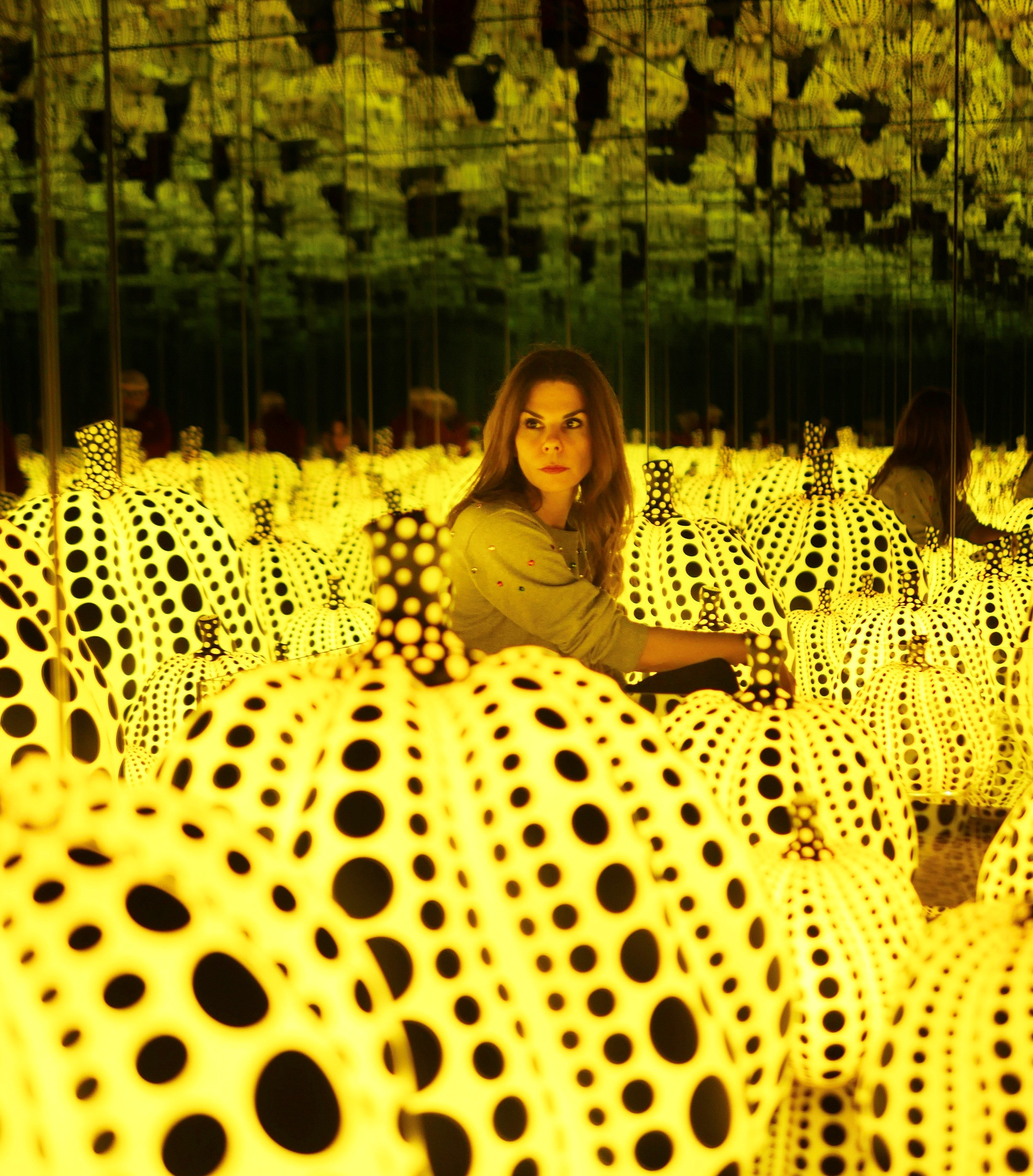 """""""All the Eternal Love I Have for Pumpkins"""", 2016, is Kusama's latest room, never shown before in the United States. Picture by Peter Koloff"""