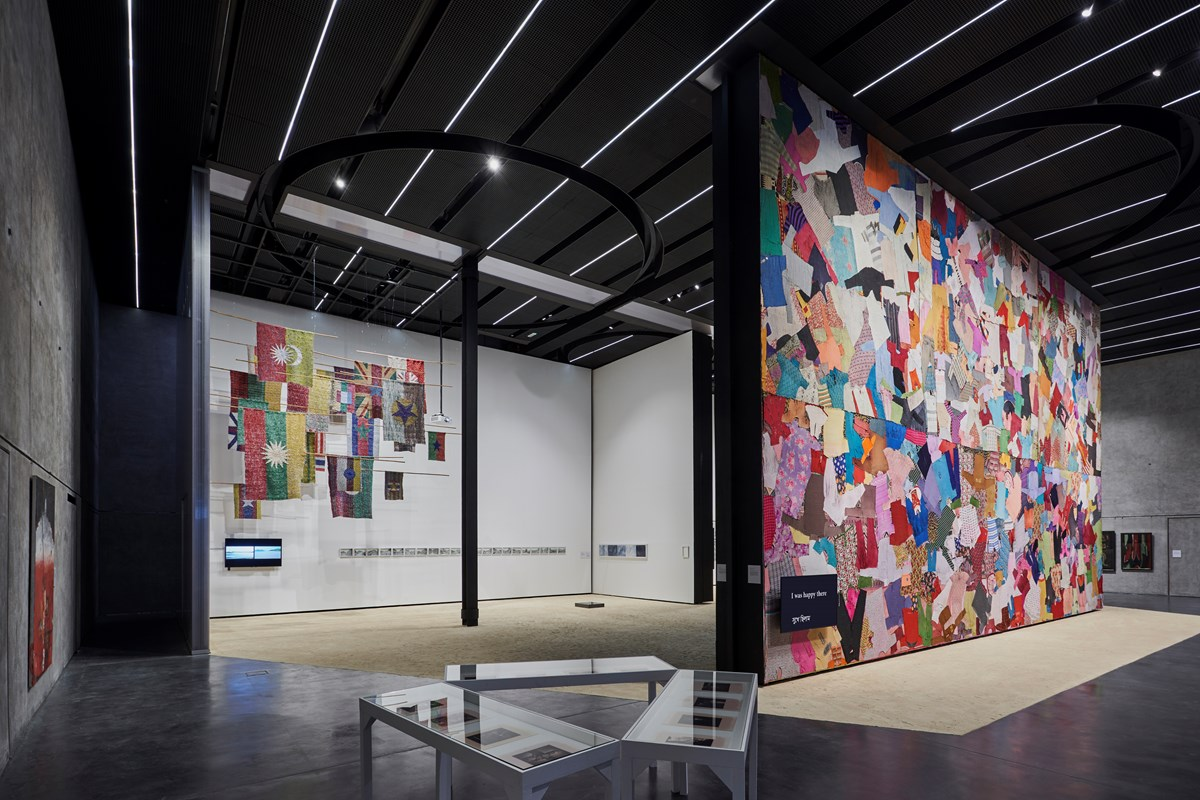 Fabric(ated) Fractures presented by the Dhaka Art Summit at Concrete in Dubai