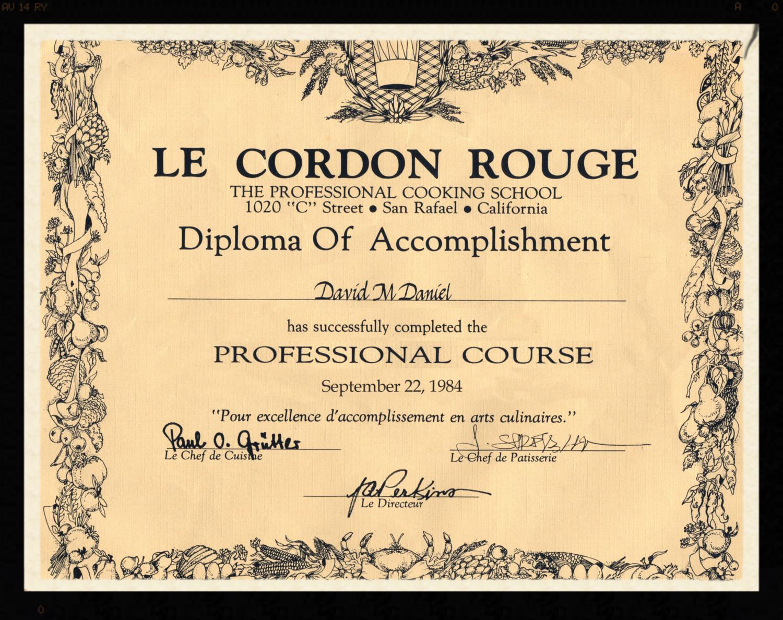 Le Cordon Rouge Diploma