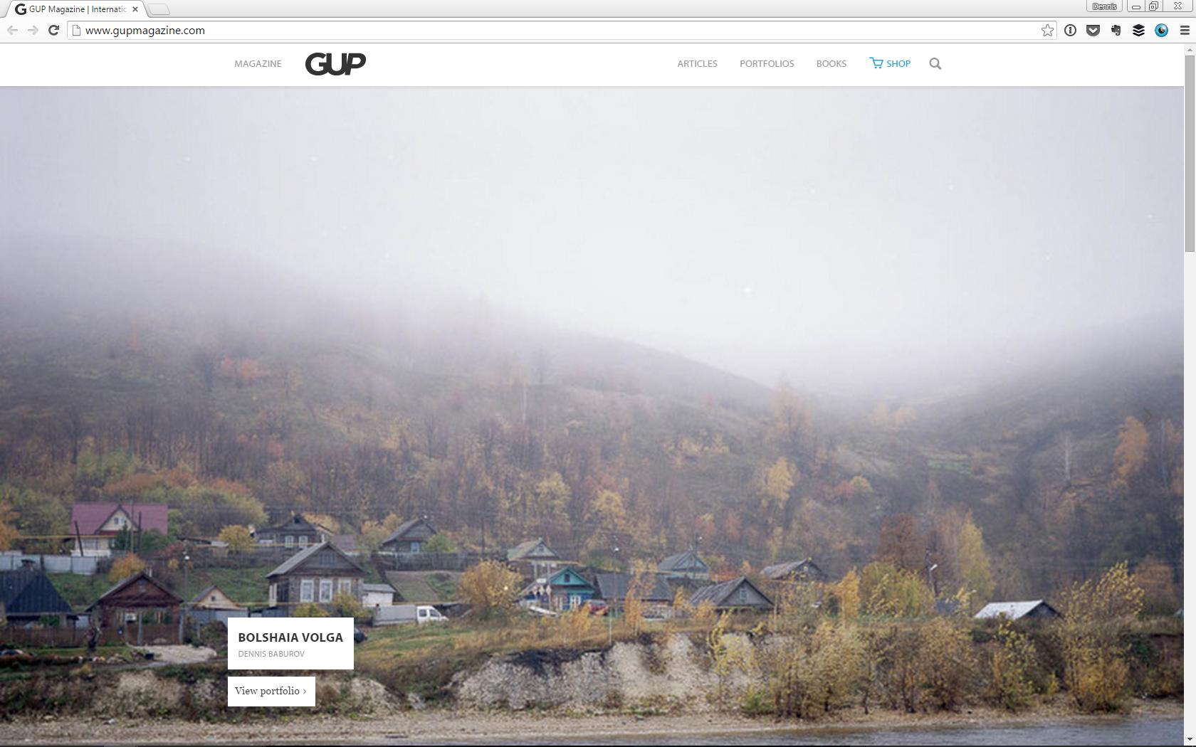 Bolshaia Volga comes to  GUP Magazine .