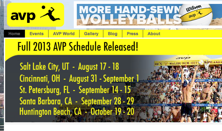 The AVP has (finally) released their 2013 schedule.