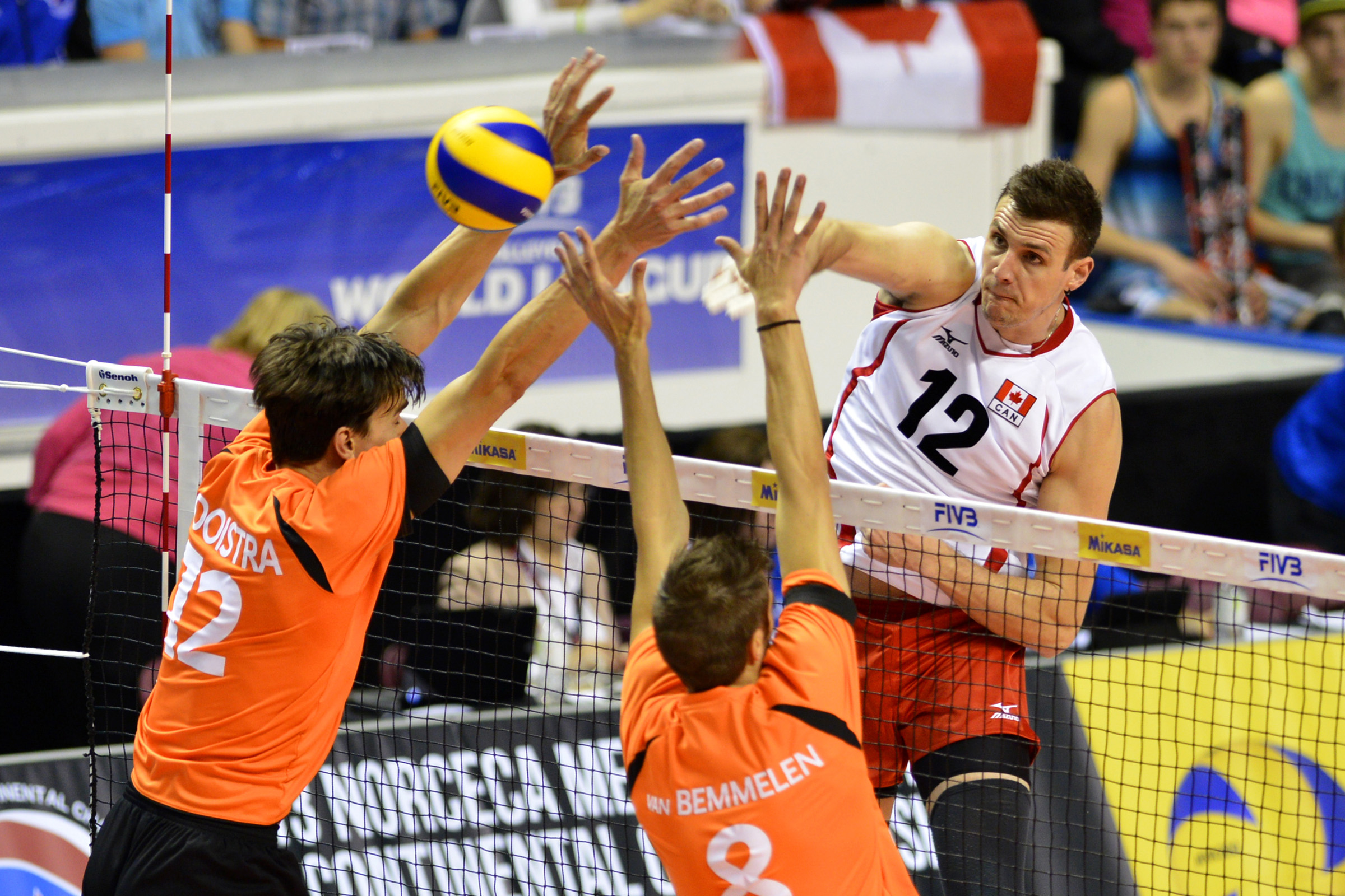 Canadian Gavin Schmitt will not be playing in tonight's FIVB World League match against Portugal. Schmitt leads Canada and is third in World League scoring with 54 points through three matches