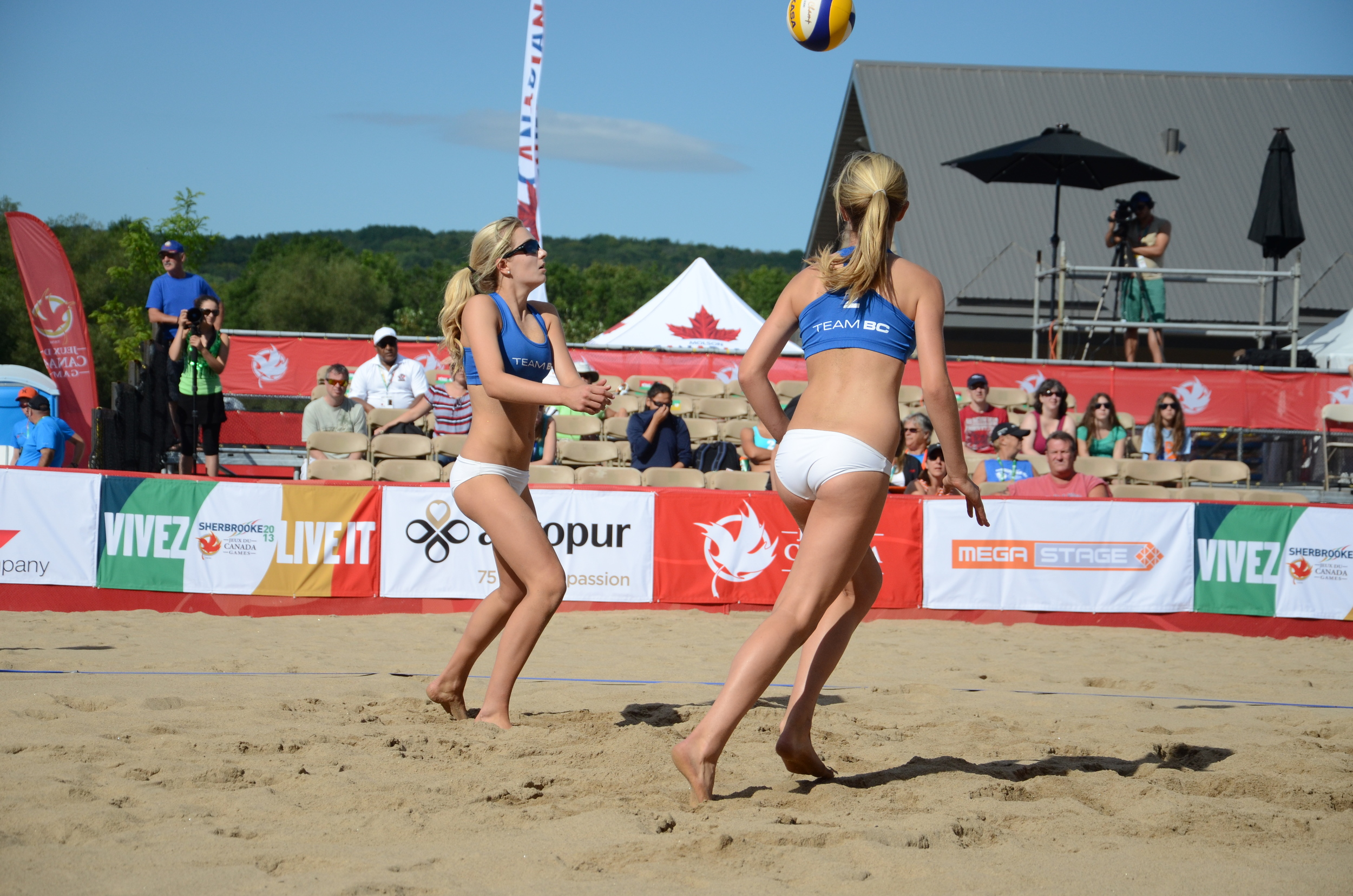 The McNamara twins from BC will be featured in the women's final on live at 11:30 on TSN2