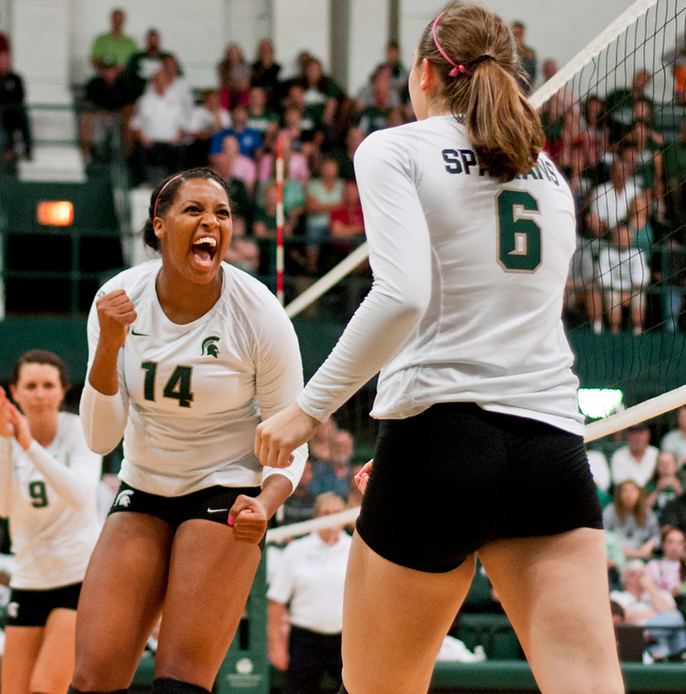 Jazmine White and Allyassah Fitterer are looking to help Michigan State past Kentucky this afternoon in the second round of the NCAA tournament