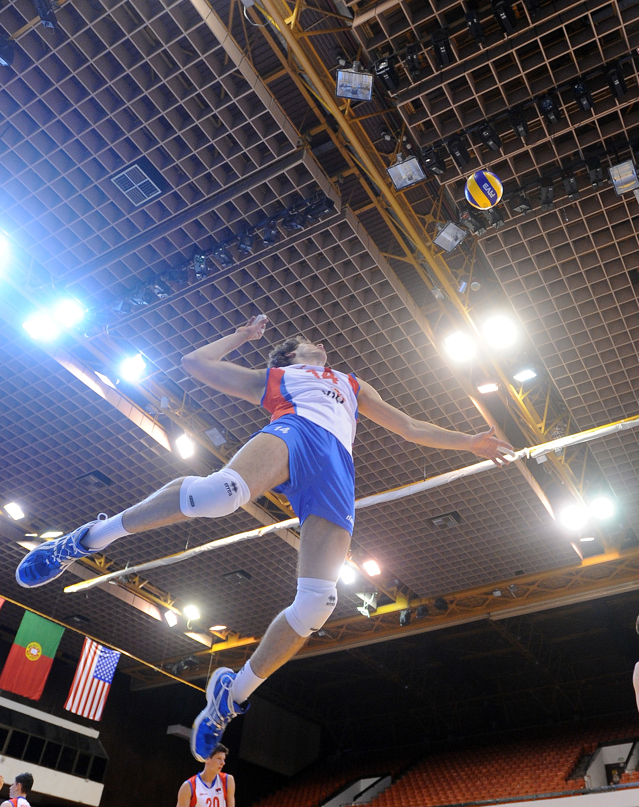 Aleks suiting up for the Serbian National Team. Photo: FIVB