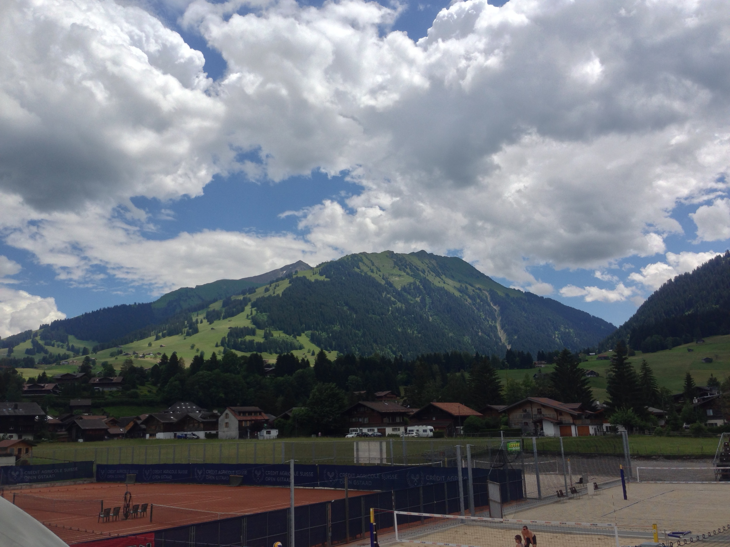 The beautiful mountains form the tournament backdrop here in Gstaad.