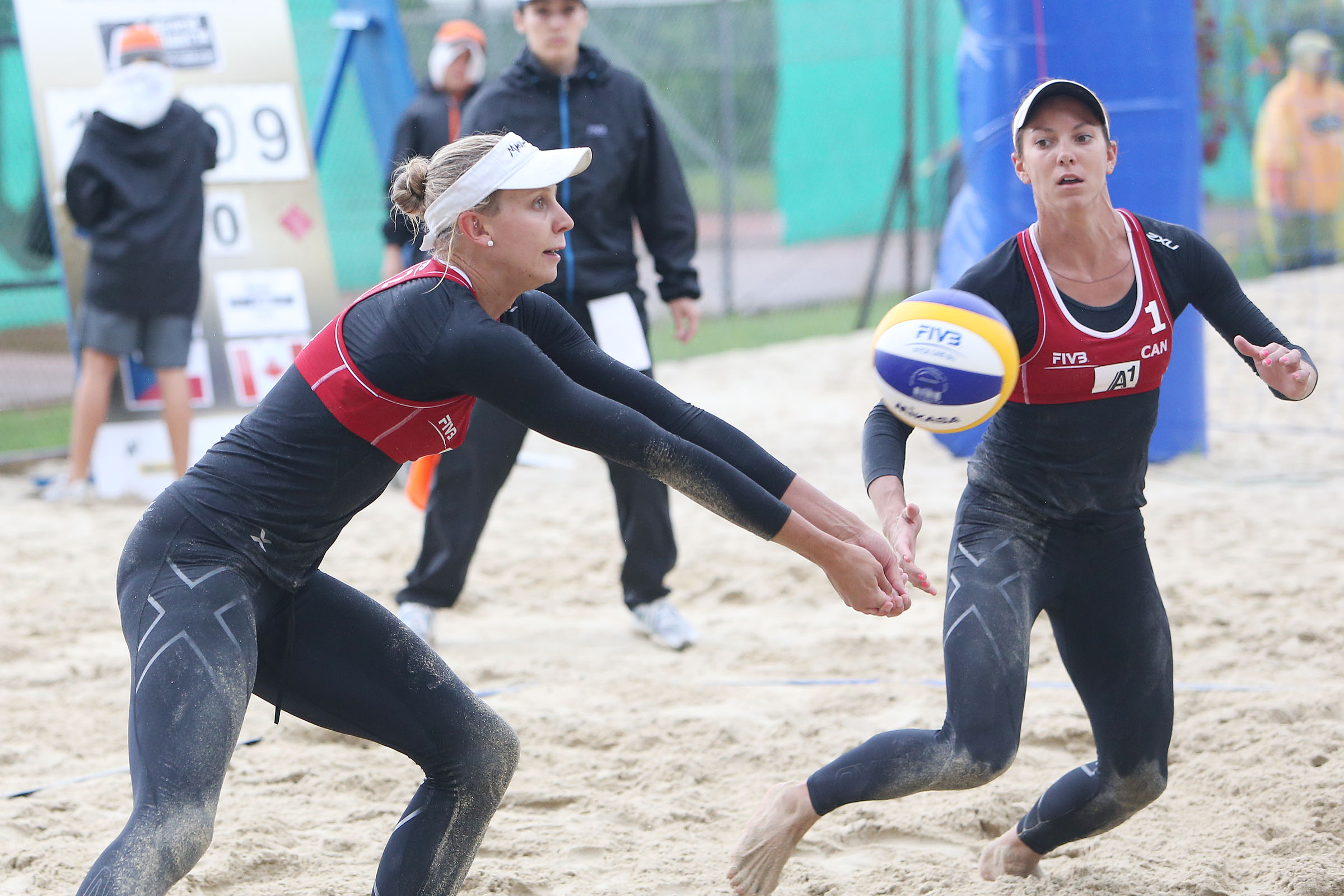 Kristina Valjas and Jamie Broder hold a 1-1 record so far in Klagenfurt, and have already qualified for the next round