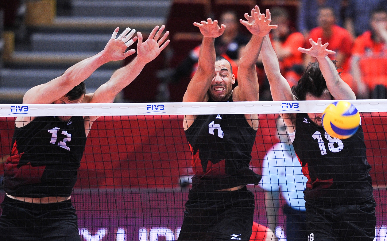 Canada's blocking was devastating, shutting down Egypt nine times while Gavin Schmitt went 13-for-19 on route to a 3-0 win over Egypt this morning at the 2014 FIVB World Championships.