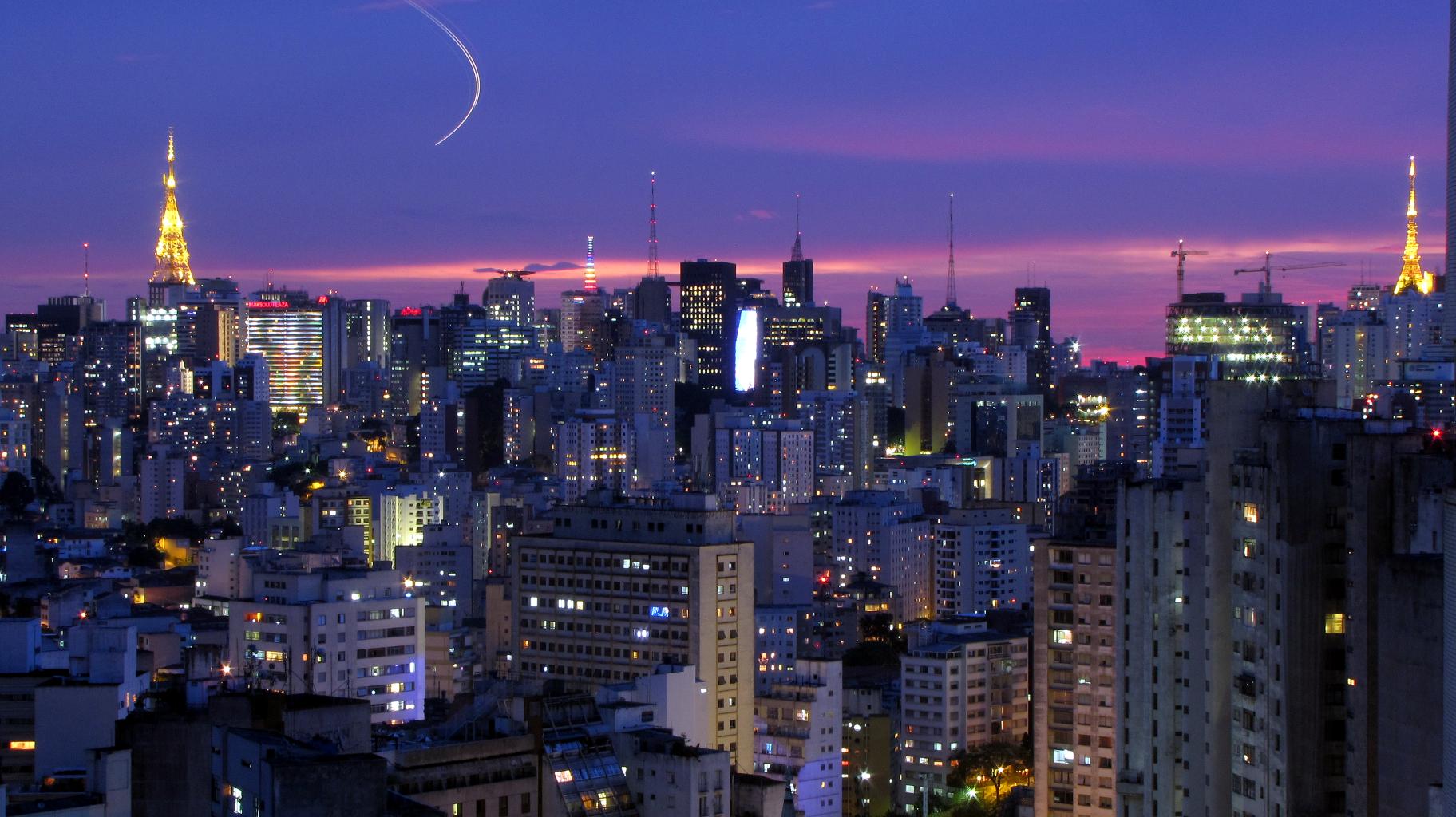 The Sao Paulo cityscape at sunset. Photo:  Copan