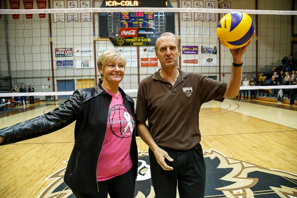 Head Coach Garth Pischke marked his 1,240th win on Saturday, making him the leader for all-time men's volleyball wins in North America Photo: Manitoba Bisons
