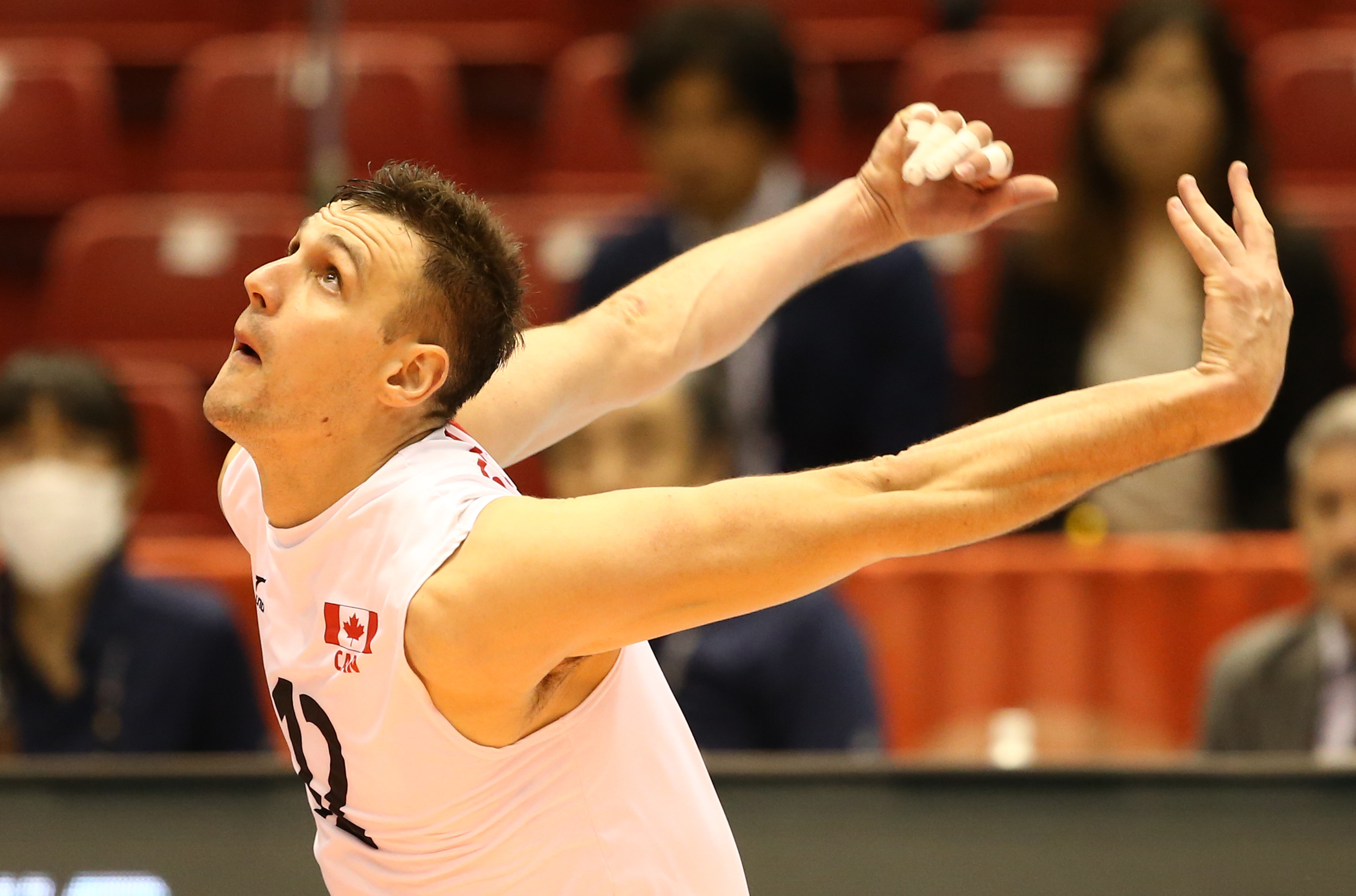 Gavin is back! He currently leads the tournament in points (44) and kills (34)  Photo: FIVB