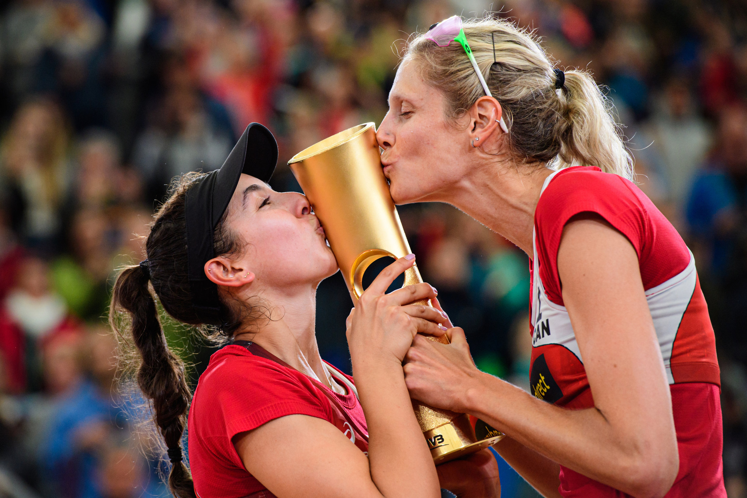 The World Champions - Melissa Humaña-Paredes and Sarah Pavan will be coming to Edmonton to play on home soil for the first time!  Photo: FIVB