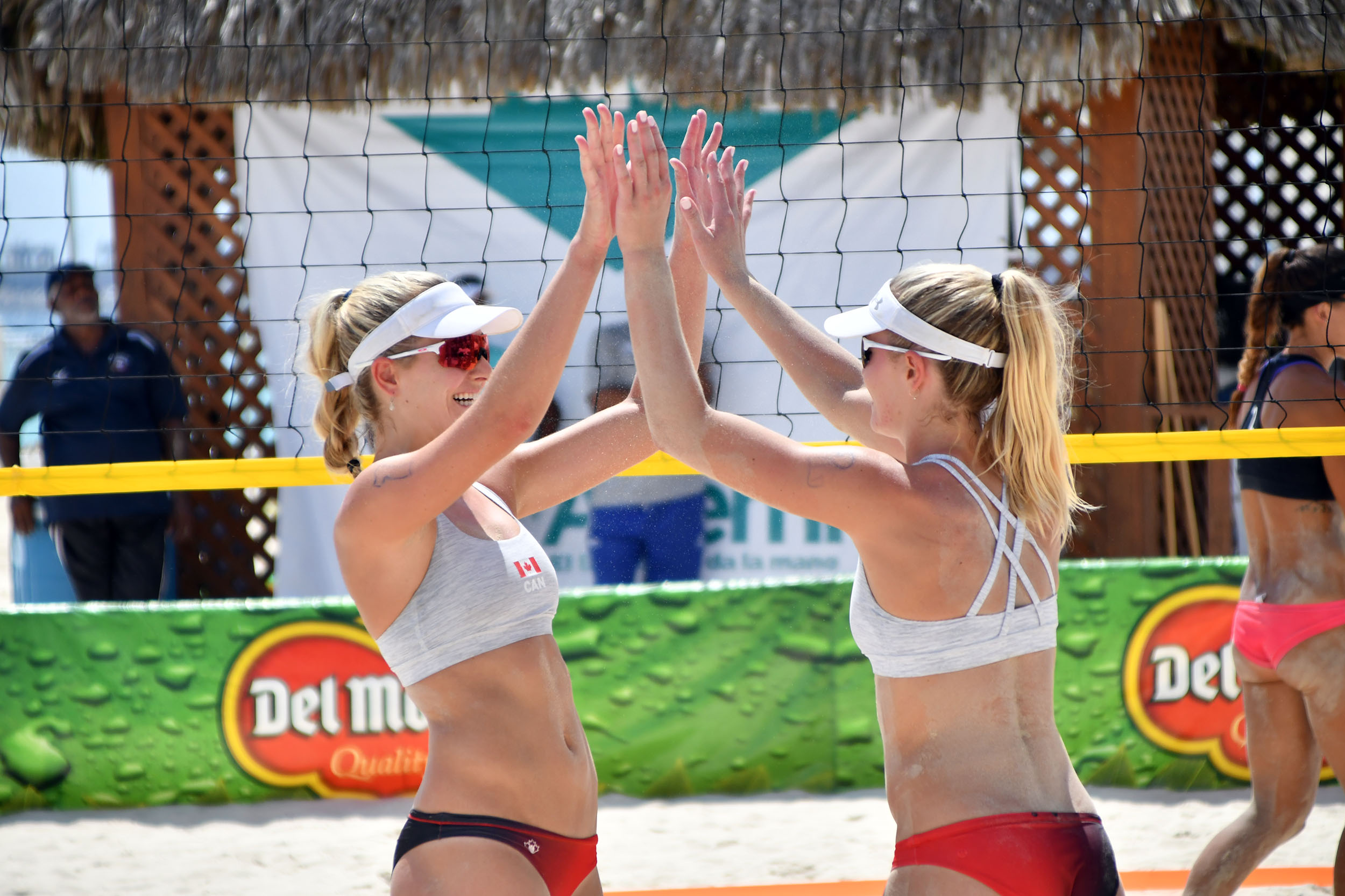 Megan & Nicole McNamara finished just off the podium after falling to the Stockman/Larsen of the USA for Bronze.  Photo: NORCECA
