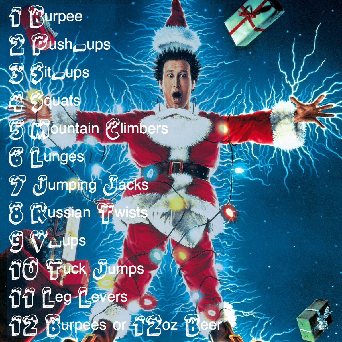 12 Days Of Christmas Wod.12 Days Of Christmas Workout Throwback