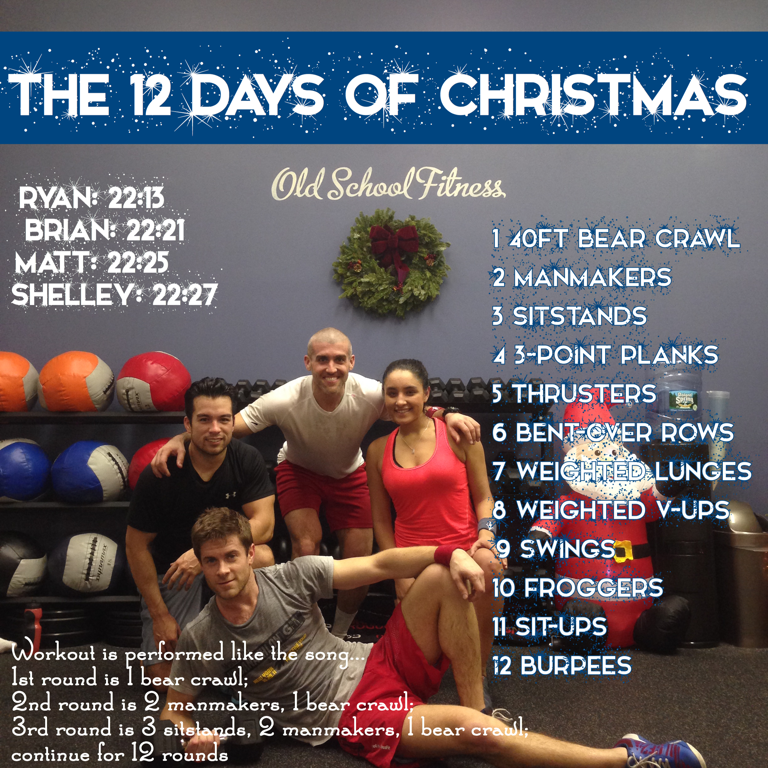 12 Days Of Christmas Crossfit Wod.12 Days Of Christmas Workout Throwback