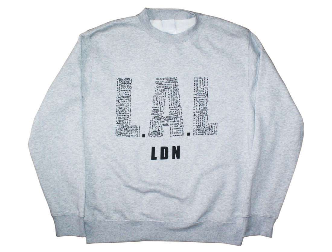 Pictured above: Handwritten L.A.L grey AW14 Sweatshirt